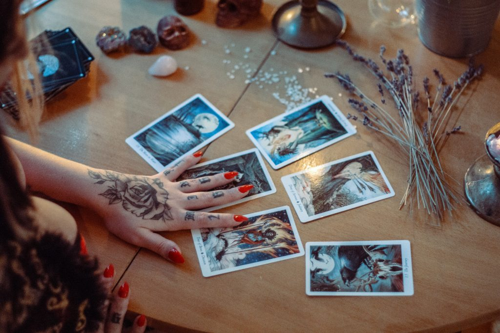 assorted tarot cards on table 3088369